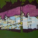 Title: Bauhaus Date Completed: 2008 Medium: Oil on canvas Dimensions: 18″ x 24″