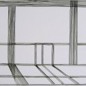 Title: Untitled (Architecture) Date Completed: 2006 Medium: Ink brush on paper Dimensions: 11″ x 15″