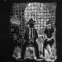 """Waiting for Their Change to Come,2008, linoleum block print, 12"""" x 12"""""""
