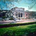 """The Detroit Institute of Arts, Noon, 2012, acrylic on canvas, 16"""" x 20"""""""