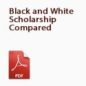 black and white scholarship compared